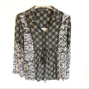 RXB Black and White Boho Style with Bell Sleeves
